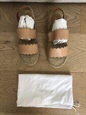 Zimmermann Scallop Espadrille Sandals Nude Size 38 Never Been Worn