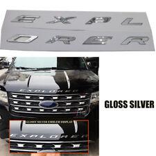 Gloss Silver EXPLORER Emblem Badge Plated Logo Sticker For Ford 2011-2017 Sporty