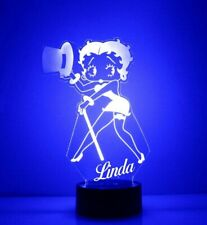 Betty Boop Personalized FREE Boop LED Night Light Lamp with Remote Control Light
