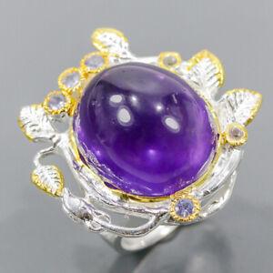 Handmade SET Amethyst Ring Silver 925 Sterling  Size 9 /R173931
