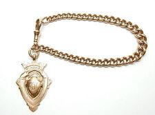 "Rose Gold Albert Bracelet Graduated 9 Carat 27.1grams 8"" length"