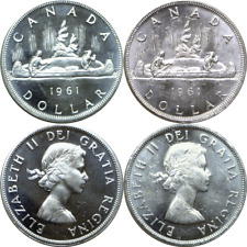 1961 Canada $1 Silver Dollars KM# 54 Uncirculated 1 Coin Only
