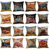 Halloween Pillow Cases Linen Sofa Pumpkin Car Cushion Cover Home Decor Square