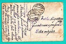 LATVIA LETTLAND CANCELED LIEPAJA TO JELGAWA 1921s VINTAGE POSTCARD 82