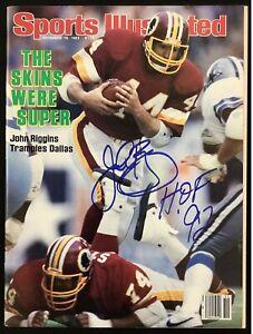 John Riggins Signed Sports Illustrated 12/19/83 No Label Redskins Auto HOF JSA