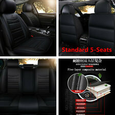 Standard 5-Seats Car Seat Covers Front+Rear PU Leather For Interior Accessories