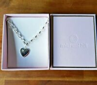 Michael Hill Jewellers Sterling Silver Chain Bracelet With Heart & Small Diamond
