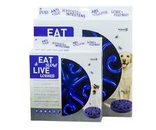 Eat Slow Feeder  Large Blau ca.30cm für mittelgroße und große Hunde