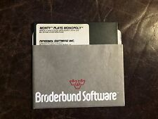 """Monty Plays Monopoly by Personal Software 1980 5 1/4"""" Floppy Disk Apple II 5.25"""