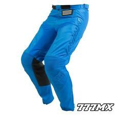 "2018 FASTHOUSE GRINDHOUSE MOTOCROSS MX PANTS SOLID BLUE 34"" WAIST *IN STOCK*"