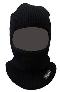 Winter Knitted Thinsulate Balaclava 1 Hole Open Face Mask SAS Style One Size