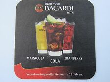 Beer Coaster Liquor ~*~ Cuba BACARDI Superior RUM with Maracuja, Cola, Cranberry