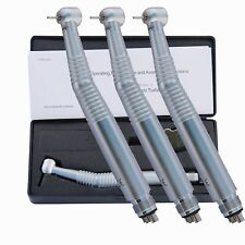 3X KAVO Dental High Speed Handpiece Self-power Fiber Optic LED Handpiece 4 Hole