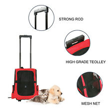 Portable Pet Carrier Dog Cat Rolling Back Pack Travel Airline Crate Luggage Bag