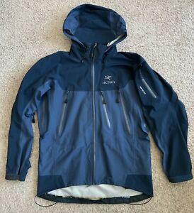 Arcteryx Gore-Tex XCR Men's M Blue Zip Jacket Hooded Ski Snow FLAWS Vintage