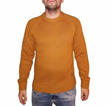 Pull Jack & Jones 12143333 Pullover col rond jaune moutarde pour hommes