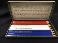 """1970's Time """"The Weekly News Magazine"""" Pencil Set  3.5"""" Long In Collector's Box"""