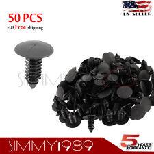 50pcs Plastic Rivets Fasteners 8mm Dia Hole for Car Auto Mud Flap Bumper Fender