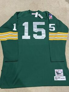 100% Authentic Mitchell & Ness Bart Starr Green Bay Packers Jersey Sz 54