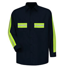 HiVis BLACK Reflective Enhanced Visibility Cotton Blend Work Shirts (Towing)