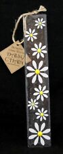 Designer Fused Glass Wall Hanging Daisy White and Yellow 25cm