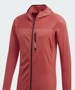 Adidas Terrex Tracerocker Hooded Fleece Size Medium  Red BNWT
