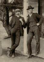 Antique Photo ... 2 Dudes Smoking Pipes Early 1900's ... Photo Print 5x7