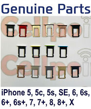 Genuine Original Sim Tray Sim Card Holder For iPhone 5 5S SE 6 6s 7 8 Plus X