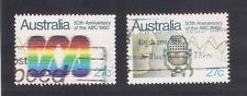 (UXAU048) AUSTRALIA 1982 50th Anniversary of ABC fine used complete set