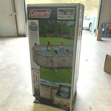 New listing Coleman Power Steel 16ft x 10ft x 48in Oval Pool Set w/ Filter Pump + Ladder New