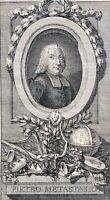 Pietro Metastasio 1698-1782 poète et librettiste Italie Pseudo Artino Corasio