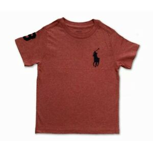 New Polo Ralph Lauren Short Sleeve TShirt Top  Red Marl Navy Big Pony Age 18-20
