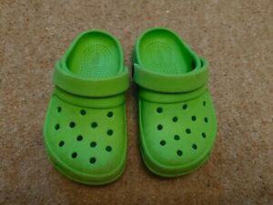 Baby Lime Green Jibbits By Crocs Sandals Slip On Infant Size 7