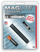 NEW! Maglite Solitaire Incandescent 1-Cell AAA Flashlight Black K3A016
