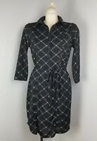 The Limited WOMENS Collared Black Dress Plaid Career Small