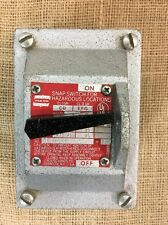 Used Crouse Hinds EFS1129 Snap Switch for Hazardous Locations