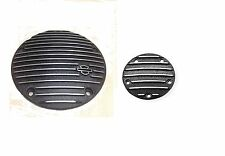 Harley OEM Origi Black Fin Derby AND Timer Cover Twin Cam Dyna Touring Softail