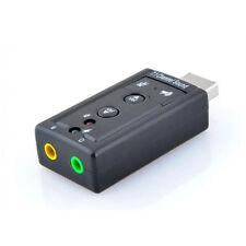 ADAPTATEUR CLE USB CARTE SON 3D 7.1CANAUX AUDIO MICRO CASQUE ECOUTEURS ORDINATEU