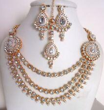 Jewelfy Indian Jewelry Sets Bollywood Traditional White Kundan Bridal Fashion