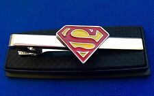 Superman  Tie Clip Superhero Tie Clasp Gift Idea Collector Logo Tie Pin