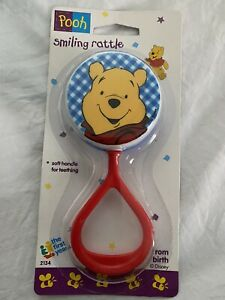 Vtg 1995 Winnie the Pooh Bear First Years Baby Rattle Toy Disney 90s New sealed