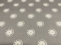 Sala Panama Cotton lamp room Grey 140cm wide  Oslo Collection Curtain Fabric