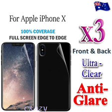 3X Front / Back Full Coverage Screen Protector For Apple iPhone X 8 7 6S 6 Plus
