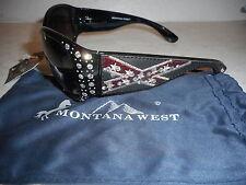 Montana West Rebel Sunglasses w/ UV400 Protection - Black - NEW
