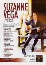 SUZANNE VEGA - TOUR FLYER 2015 - RARE CONCERT LIVE GENUINE MUSIC PROMO