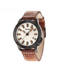 Timberland Men's Watch Quartz Waterproof 50m Leather Strap Brown