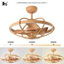 Multi Speed Wireless Control Chandelier Light semi ceiling lamp fan led dimmable