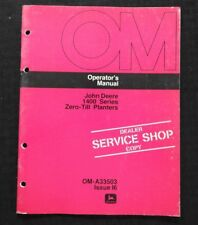 Original 1976 John Deere 1400 Zero Till Planter Operators Manual Near Mint