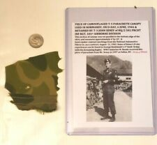 Documented Original D-Day Used WW2 US Parachute Piece Named- 101st Airborne READ