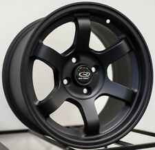15x8 Rota Grid Concave 5x100 +20 Flat Black Wheel (1)